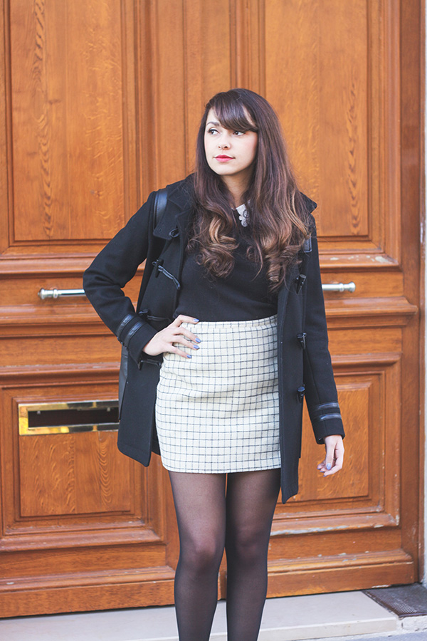 Look Hiver, Preppy, pull col claudine, jupe en laine Madewell - Blog Lifestyle Mode Dollyjessy