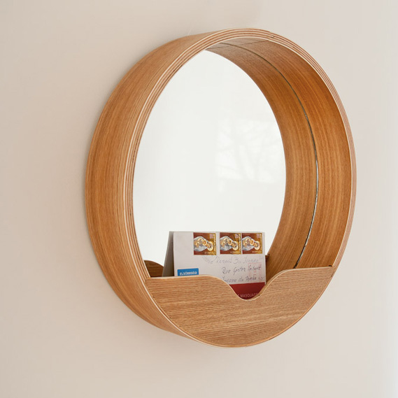 Design scandinave s lection d 39 objets d co for Miroir rond bois