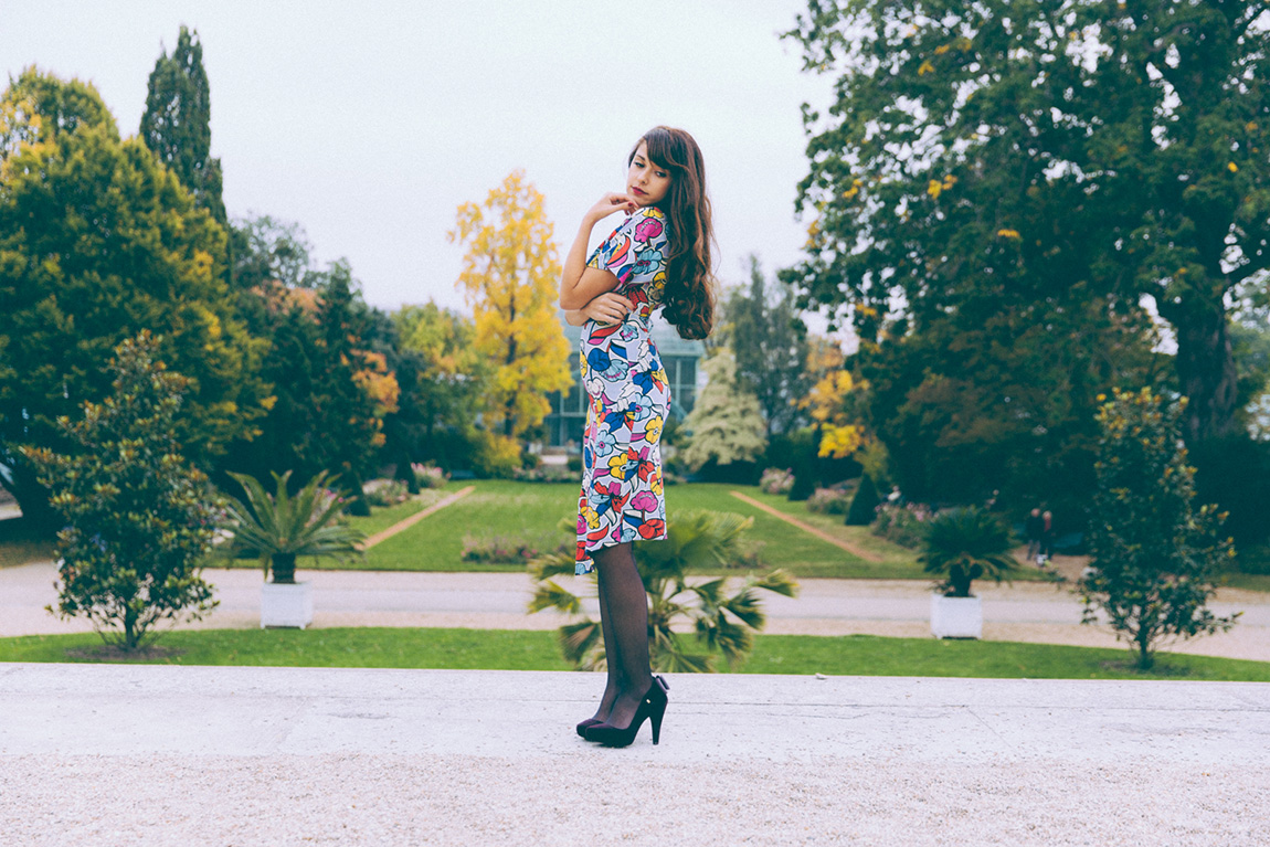 Blog mode look glamour robe crayon - shooting serres d'Auteuil