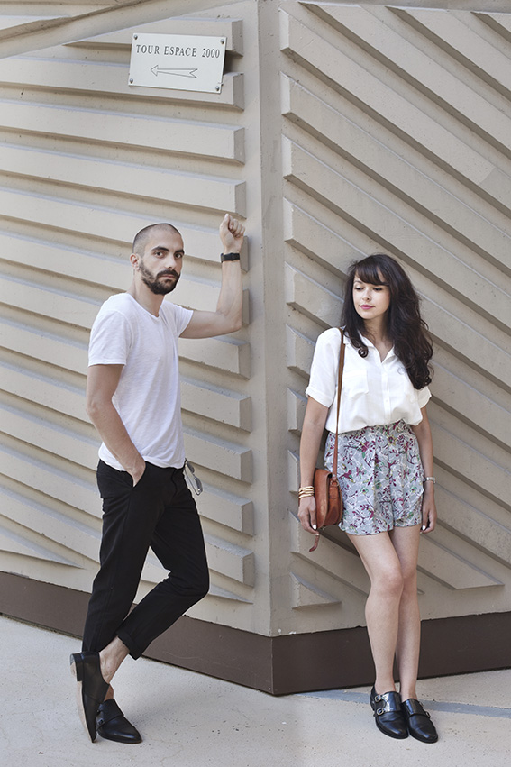 Shooting blog mode mixte homme femme couple Paris - Photographe Alexandra Clamart - Shooting graphique design urbain