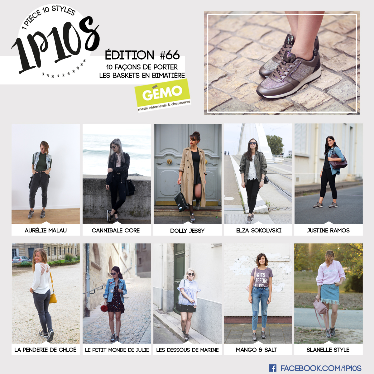 1P10S 1 pièce 10 styles - blogueuse mode  défi look