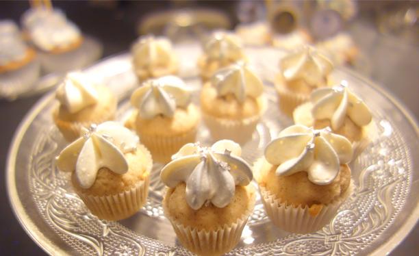 Rikiki cupcakes vanille / chocolat blanc