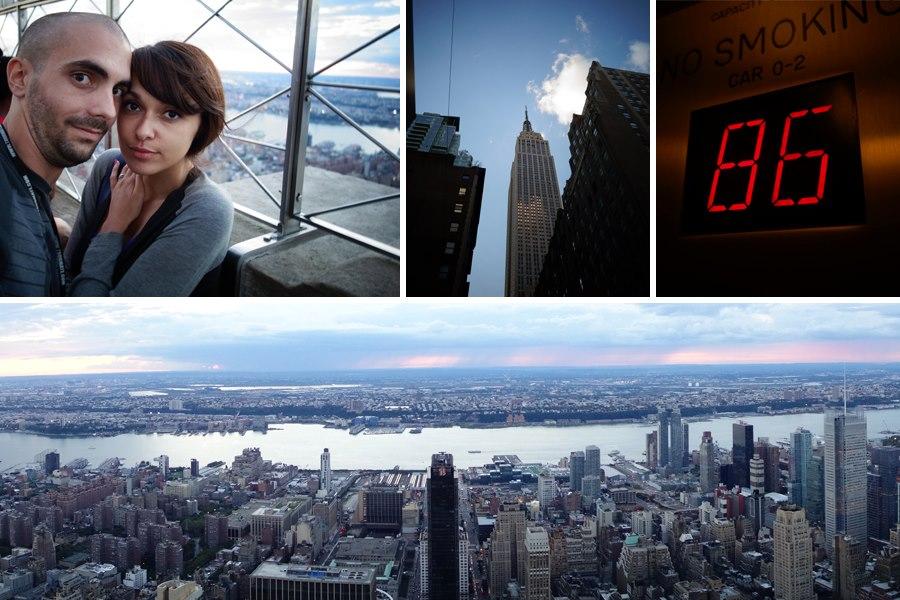 Nous sur le toit, montée de l'ascenseur et vue depuis le sommet