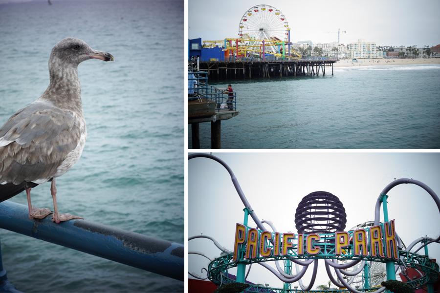 Le Pier de Santa Monica, à Los Angeles
