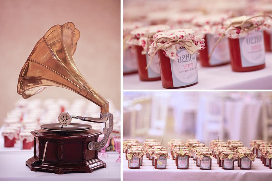 Idées et conseils pour un mariage original, pots de confiture faits maisons, en guise de porte noms, placement des invités, DIY