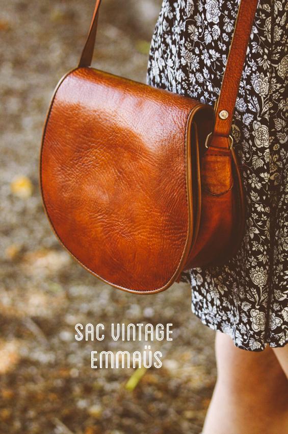 Look #1, premier article de mode, sac vintage emmaüs, Dollyjessy