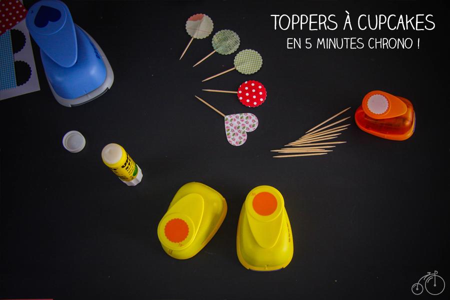 DIY pour fabriquer des toppers à cupcakes, par Dollyjessy