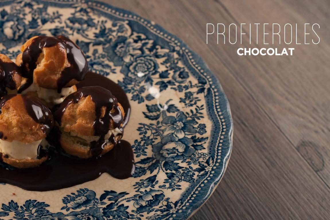 Recette des profiteroles  glace vanille et sauce chocolat chaude maison