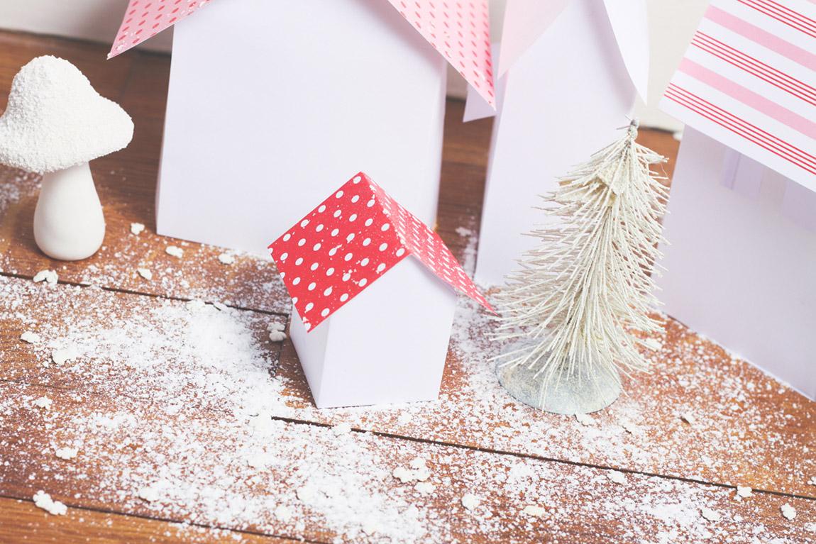 DIY maisons en papier pour Noël, Dollyjessy