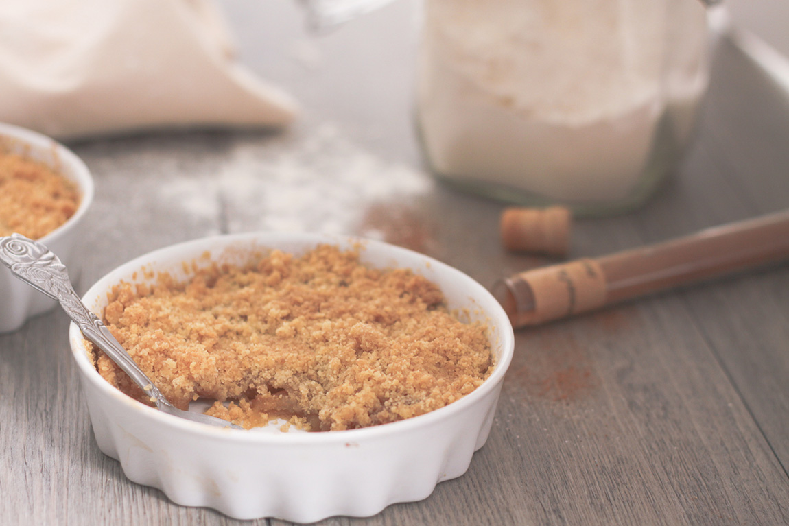 Recette du crumble aux pommes, blog lifestyle cuisine Dollyjessy