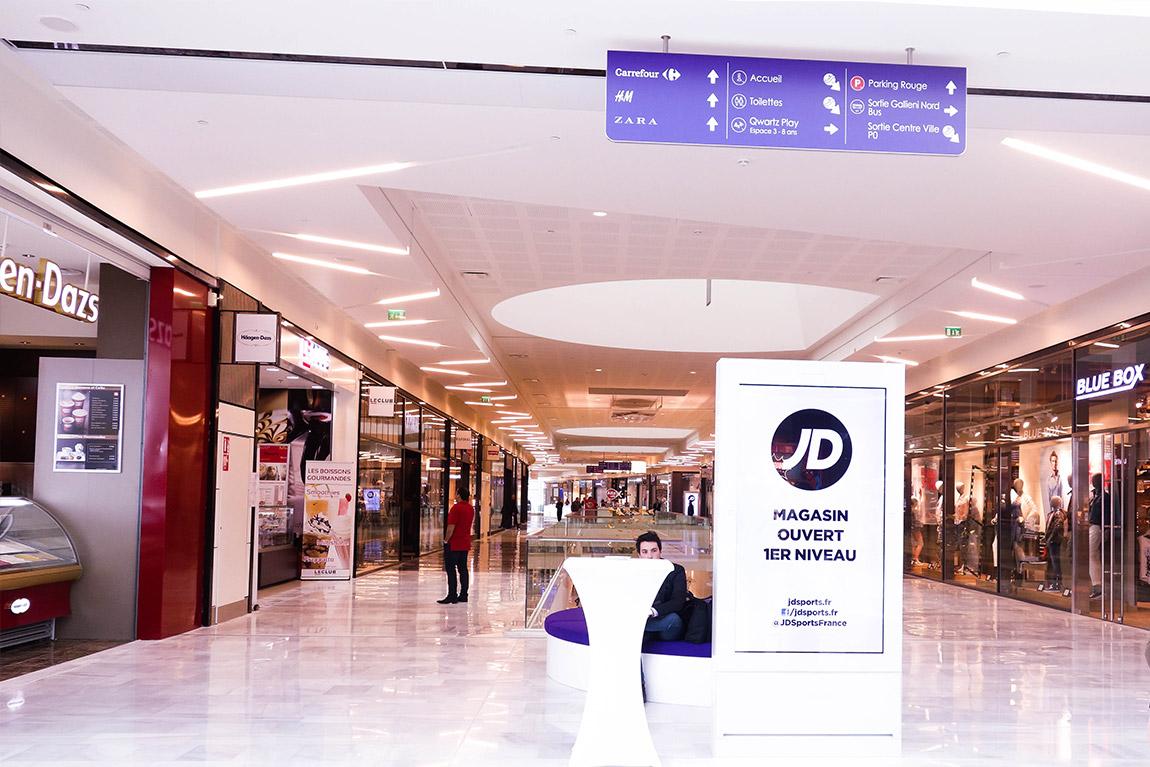 Centre commercial connecté Qwartz Villeneuve région parisienne