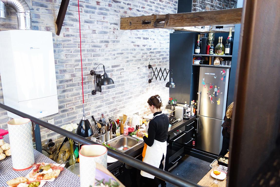Le loft de MyLittleParis - cuisine ouverte