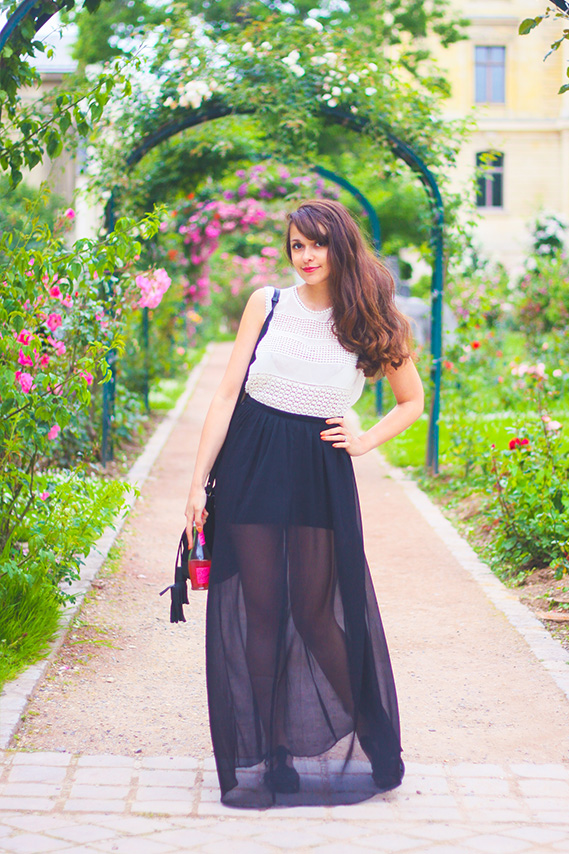 Jardin des plantes, jardin des roses à Paris Blog Mode Lifestyle Dollyjessy - Look Transparence