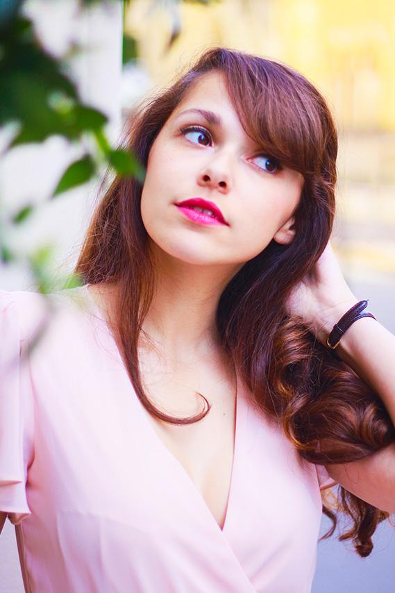 Dollyjessy blog mode fashion lifestyle - Look #35 Robe longue rose pastel Asos