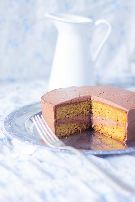 Recette cake gâteau pralin praliné, avec ganache montée au chocolat praliné - Blog Dollyjessy Cuisine Lifestyle