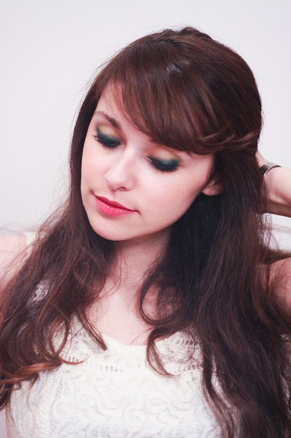 Essai du maquillage Terry, smoky eyes vert émeraude et vert anis