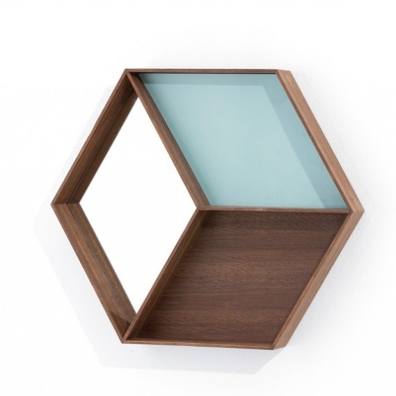 Miroirs avec étagères compartiments, design scandinave