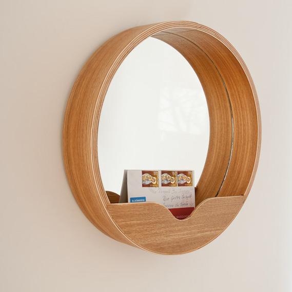 Miroir rond rangement inspiration scandinave