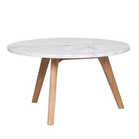 Table basse marbre et bois clair Fleux