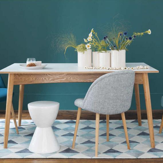 Table à manger blanc et bois clair, maison du monde