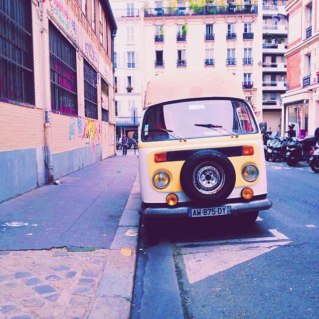 Mini van vintage trop mignon, Instagram Blog mode lifestyle Dollyjessy