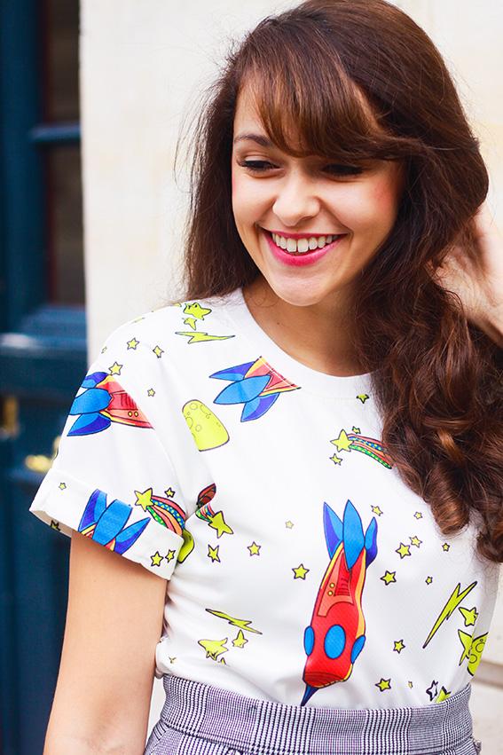 T shirt spatial fusée, blog mode fashion french Paris