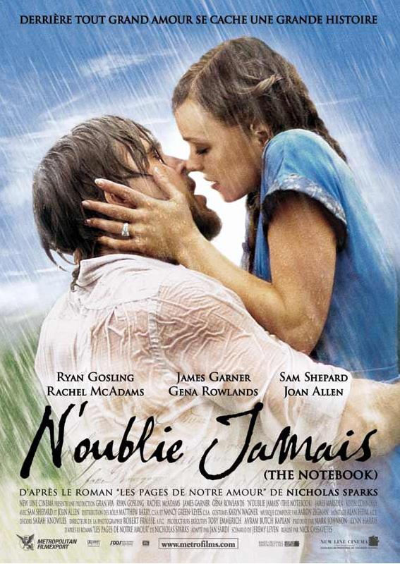 The Note Book N'oublie jamais - blog lifestyle cinéma - affiche du film