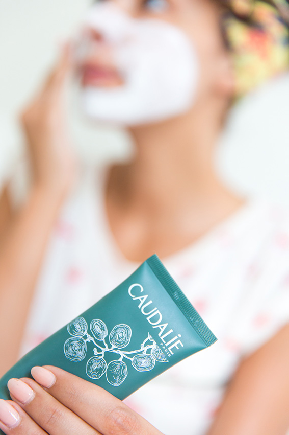 Masques Caudalie : Masque purifiant anti imperfections à l'argile blanche, masque instant détox à l'argile rose nettoie en profondeur - blog lifestyle dollyjessy