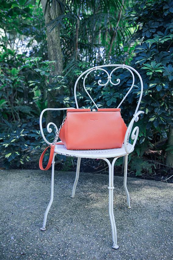 Sac Christian Lacroix orange style vintage collection été - blog mode français, french fashion blog