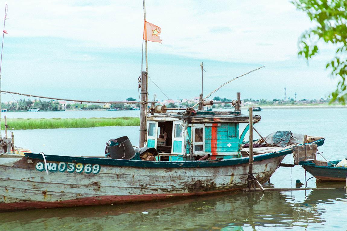 Hoi An Vietnam Travel blog Boat - Blog voyage français bateau à Hoï An.