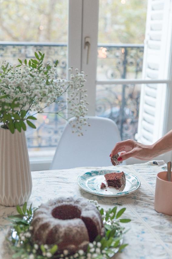 Recette moelleux au chocolat phorographie culinaire fleurs - blog cuisine lifestyle