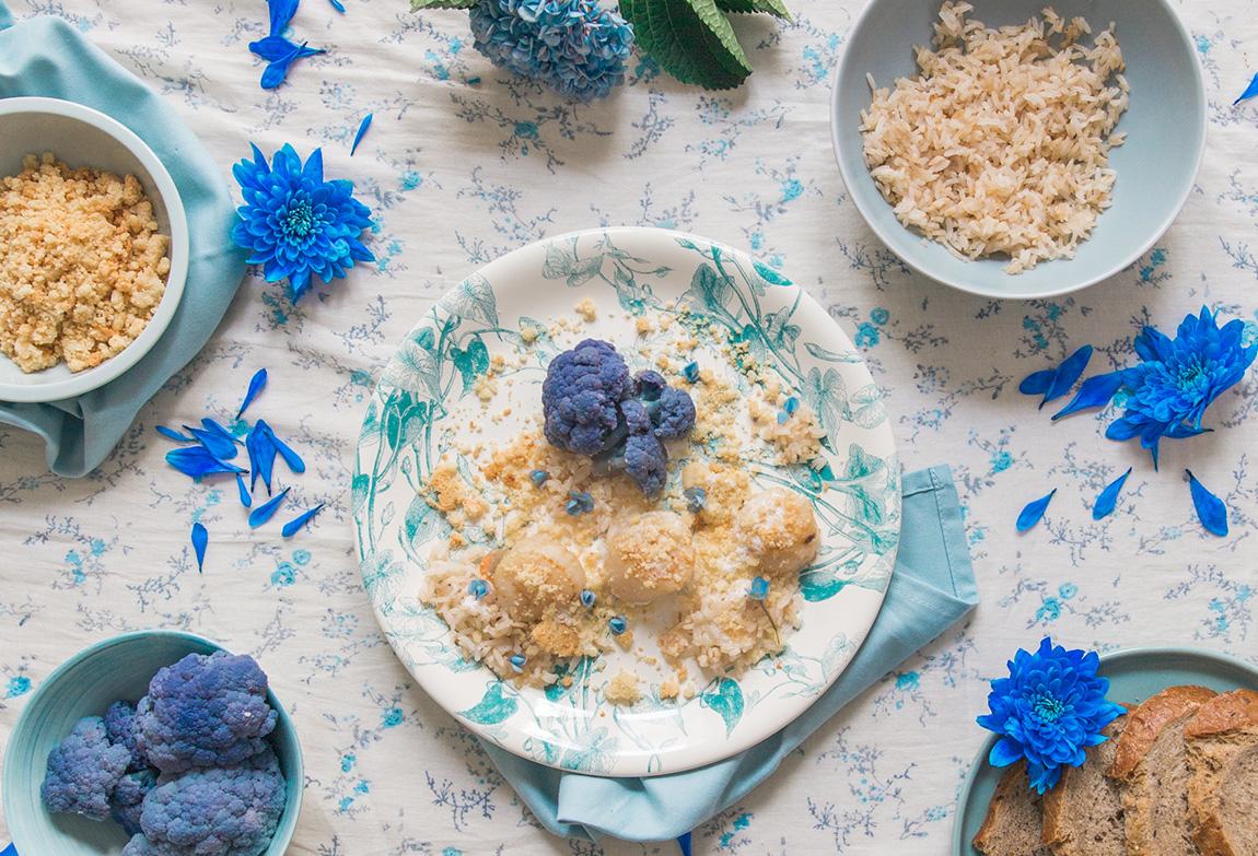 Recette à base de riz noix de saint jacques émulsion de crème fraiche, crumble de parmesan au four - blog cuisine blog de recettes. Nouveaux riz Taureau ailé