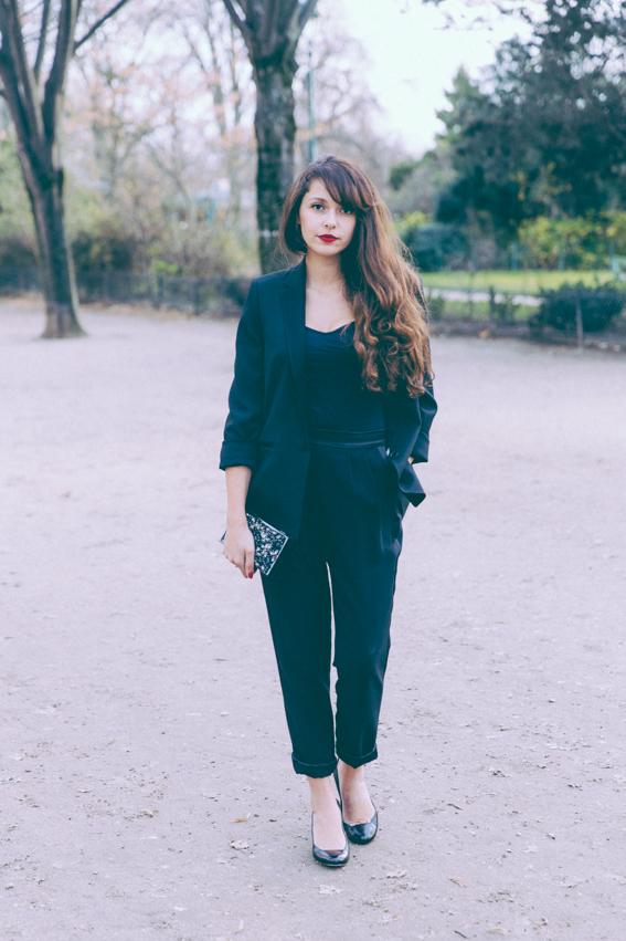 Tailleur femme 123 version chic version décontractée - tenue de réveillon nouvel an. Blog mode Paris
