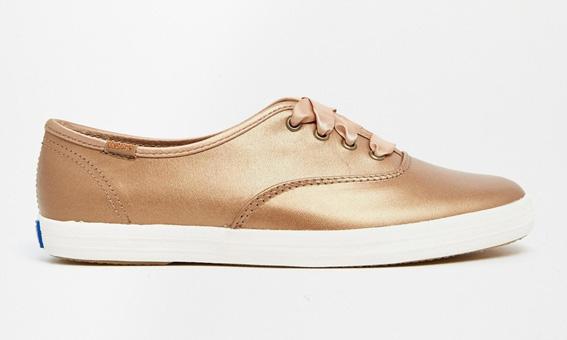 Keds bronze - Baskets métallisées - bons plans soldes shopping blog mode paris