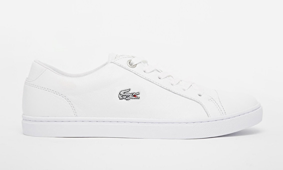 Baskets blanches parfaites minimalistes Sneakers Lacoste - shopping bons plans soldes blog mode dollyjessy