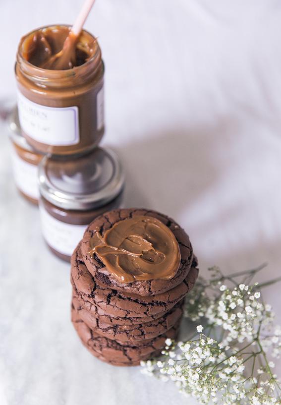 Recette cookies au chocolat moelleux ultra chocolatés facile et rapide confiture de lait L'epicurien - blog cuisine lifestyle dollyjessy Paris