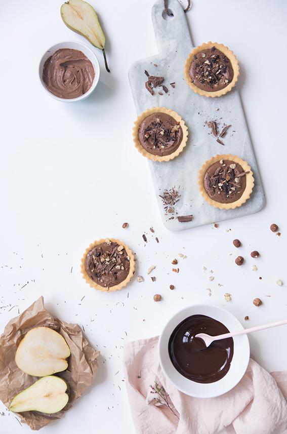 Recette tartelette au chocolat avec ganache montée - mousse au chocolat légère aérienne - blog culinaire cuisine lifestyle paris - photographe culinaire paris