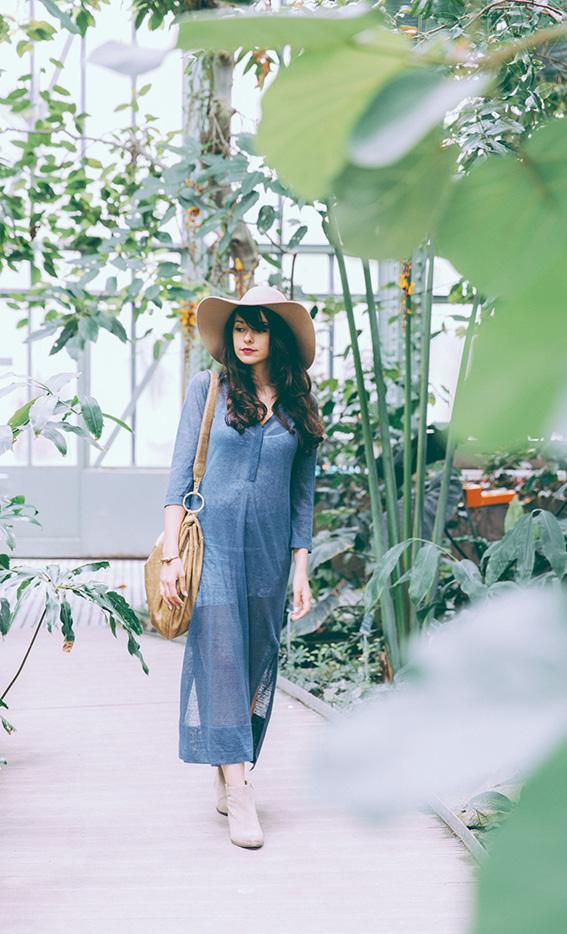 Tendance mode bohème été 2016 - Look tunique en lin style hippie tenue de festival - blog mode paris dollyjessy