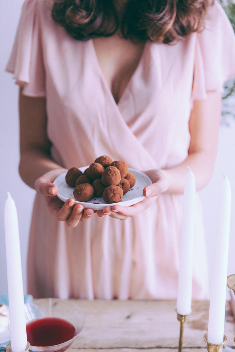 Recette truffes au chocolat au lait Vegan Blog cuisine lifestyle
