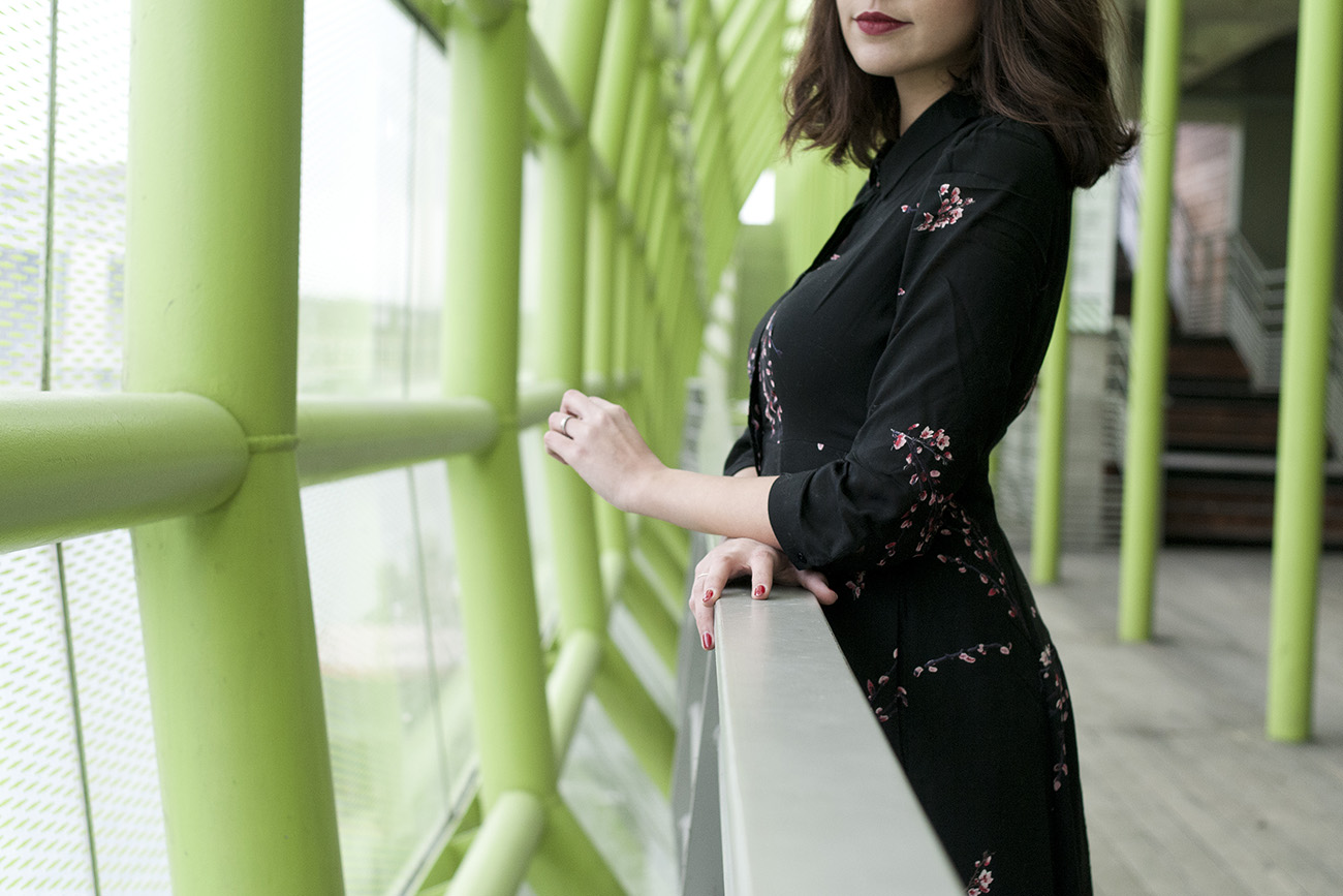 Longue Robe Fleurie En Hiver Blog Mode Paris Look Hiver 2017dollyjessy