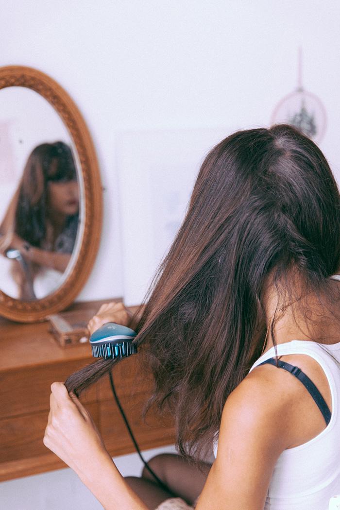 Brosse lissante Power Straight Calor cheveux frisés bouclés ou même crépus - blogueuse parisienne mode lifestyle dollyjessy collaboration blog mode Paris